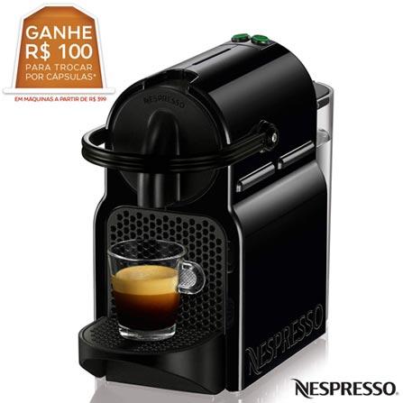 Cafeteira nespresso inissia preta