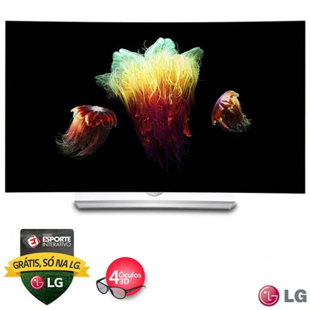 "Imagem para Smart TV 4K OLED Curva 3D LG 55"" com webOS 2.0, Controle Smart Magic e Wi-Fi - 55EG9200 a partir de Fast Shop"