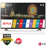 "Smart TV 4K LG LED 55"" com WebOs 2.0, Controle Smart Magic e Wi-Fi - 55UF8500"