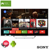 "Smart TV 4K 3D Sony LED 75"" Android TV com X-Reality Pro e Wi-Fi - XBR-75X855C"