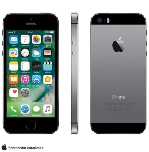 Iphone 5s Cinza Espacial, Com Tela de 4, 4g, 16 Gb e Câmera de 8 Mp - Me432br/a - Aeme432bracnz Bivolt