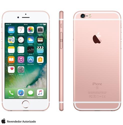 Iphone 6s Rosa Dourado, Com Tela de 4.7 4g, 128 Gb, e Câmera de 12 Mp - Mkqw2br/a - Aemkqw2brarsa Bivolt