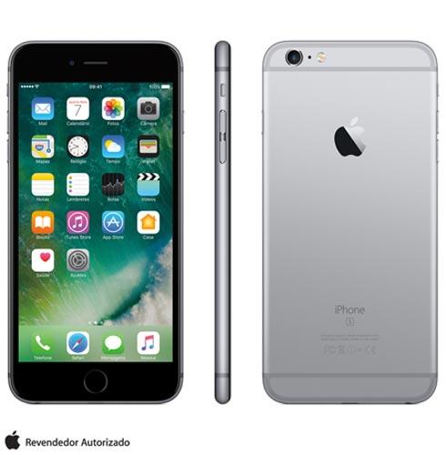Iphone 6s Plus Cinza Espacial Com Tela de 5,5, 4g, 128 Gb e Câmera de 12 Mp - Mkud2bza - Aemkud2bzacnz