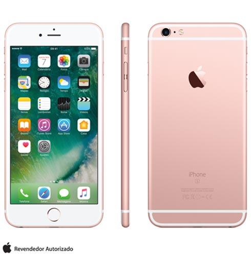 Iphone 6s Plus Rosa Dourado, Com Tela de 5.5 4g, 128 Gb, e Câmera de 12 Mp - Mkug2bza - Aemkug2bzarsa