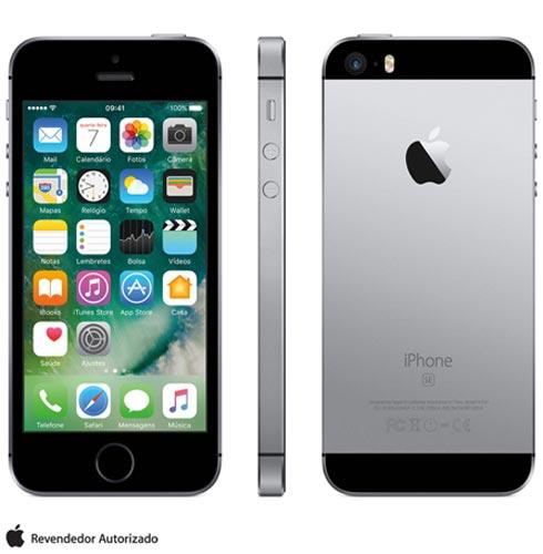 Iphone Se Cinza Espacial, Com Tela de 4, 4g, 16 Gb e Câmera de 12 Mp - Mlln2br/a - Aemlln2bracnz Bivolt