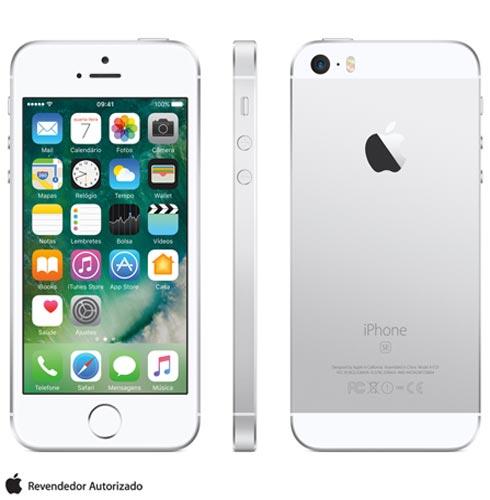 Iphone Se Prata, Com Tela de 4, 4g, 16 Gb e Câmera de 12 Mp - Mllp2bz/a - Aemllp2bzapta Bivolt