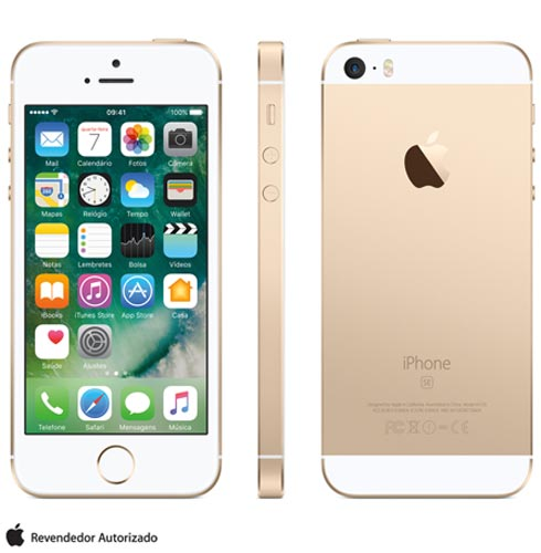 Iphone Se Dourado, Com Tela de 4, 4g, 16 Gb e Câmera de 12 Mp - Mlxm2br/a - Aemlxm2bradrd Bivolt