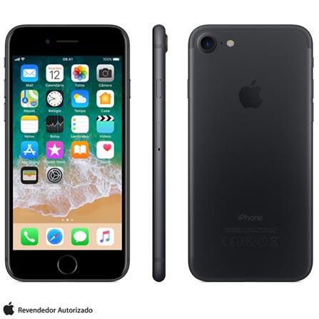 Iphone 7 Preto Matte Com Tela de 4,7, 4g, 128 Gb e Câmera de 12 Mp - Mn922br/a - Aemn922brapto Bivolt