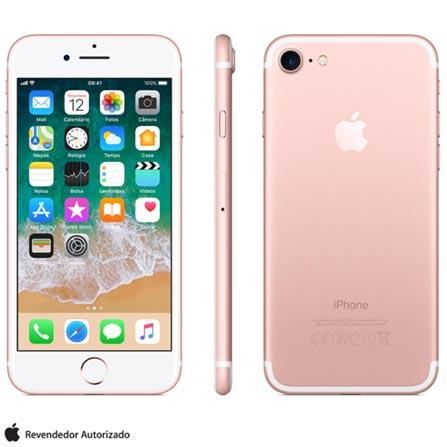 Iphone 7 Ouro Rosa Com Tela de 4,7, 4g, 128 Gb e Câmera de 12 Mp - Mn952br/a - Aemn952brarsa Bivolt