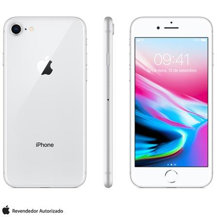 Iphone 8 Prata, Com Tela de 4,7, 4g, 256 Gb e Câmera de 12 Mp - Mq7d2bz/a - Aemq7d2bzapta Bivolt