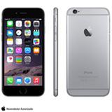 """iPhone 6 Space Gray com iOS 8, Processador A8, 16 GB de memória, Câmera de 8MP, Tela de 4,7"""", 4G e Wi-Fi - MG3A2BZA"""