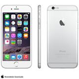 """iPhone 6 Silver com iOS 8, Processador A8, 16 GB de memória, Câmera de 8MP, Tela de 4,7"""", 4G e Wi-Fi - MG3C2BZA"""