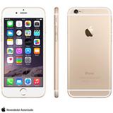 iPhone 6 Gold com 4,7', 4G, iOS, Processador A8, 16 GB e Câmera de 8 MP