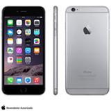 """iPhone 6 Plus Space Gray com iOS 8, Processador A8, 16 GB de memória, Câmera de 8MP, Tela de 5,5"""", 4G e Wi-Fi - MG9M2BZA"""