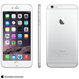 """iPhone 6 Plus Silver com iOS 8, Processador A8, 16 GB de memória, Câmera de 8MP, Tela de 5,5"""", 4G e Wi-Fi - MG9N2BZA"""