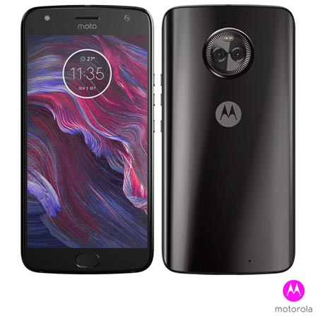Moto X4 Preto Motorola Com Tela de 5,2, 4g, 32 Gb e Câmera de 12 Mp+8 Mp - Xt1900 - Mrxt1900pto Bivolt