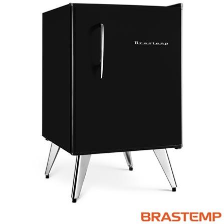 Imagem para Frigobar Retrô 76 Litros Brastemp com Controle de Temperatura Preto  - BRA08AE a partir de Fast Shop