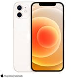iPhone 12 Branco, com Tela de 6,1', 5G, 256 GB  e Câmera Dupla de 12MP Ultra-angular + 12MP Grande-angular - MGJH3BZ/A