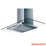 Coifa de Parede Brastemp 90 cm com 03 Velocidades + Turbo, Display em LED, Timer, em Vidro Plano e Inox - BAP90AR