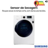 Secadora de Roupas Elétrica Samsung com 05 Programas de Secagem, 12 kg Branca - DV12K6800EW/AZ