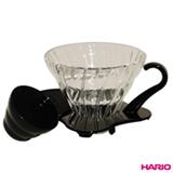 Suporte para Filtro de Café para até 02 xícaras em Vidro Preto - Hario