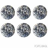 Conjunto de Pratos de Sobremesa com 06 Peças em Cerâmica Coup Blue Garden - Porto Brasil