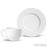 Conjunto de Xícaras para Chá La Tavola em Cerâmica 160 ml com 06 Peças Branco - Porto Brasil