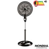 Ventilador de Mesa Mondial Turbo com 03 Velocidades Preto e Prata - VTX-40C-8P
