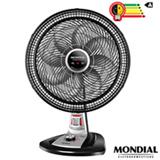 Ventilador de Mesa Mondial Turbo com Sistema de Repelente em Pastilha com 03 Velocidades Preto e Prata - VTX-40-8P-RP