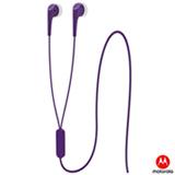 Fone de Ouvido Motorola Earbuds 2 Intra-auricular Estéreo com Microfone Roxo
