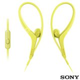 Fone de Ouvido Sony Intra-Auricular com Microfone Amarelo - MDR-AS410AP
