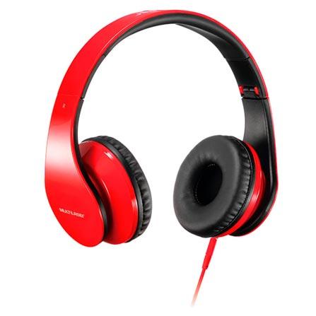Fone de Ouvido Headphone Com Microfone Vermelho Multilaser Ph112