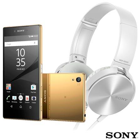Xperia Z5 Premium Ouro Sony à Prova d'água com Tela de 5,5