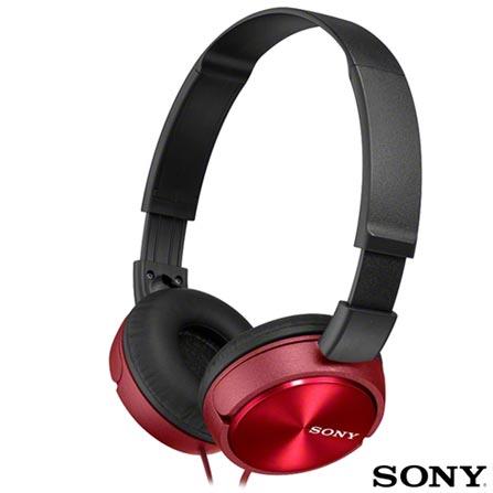 Fone de Ouvido Sony Headphone com Microfone Integrado Vermelho - MDR-ZX310AP, Vermelho, 03 meses, Sony