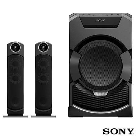 Mini System Flex Sony com Bluetooth e NFC Preto - MHC-GT5D, Bivolt, Bivolt, Preto, 12 meses, Sony