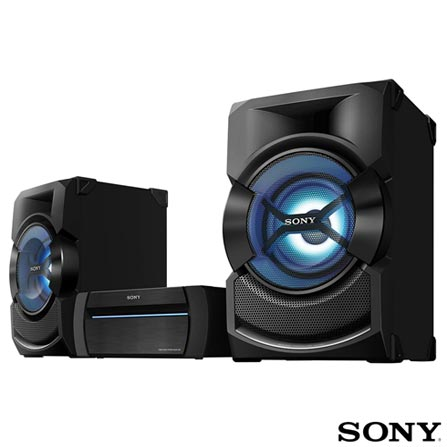 Mini System Box Shake Sony com Bluetooth USB Preto, Bivolt, Bivolt, Preto, 12 meses, Sony