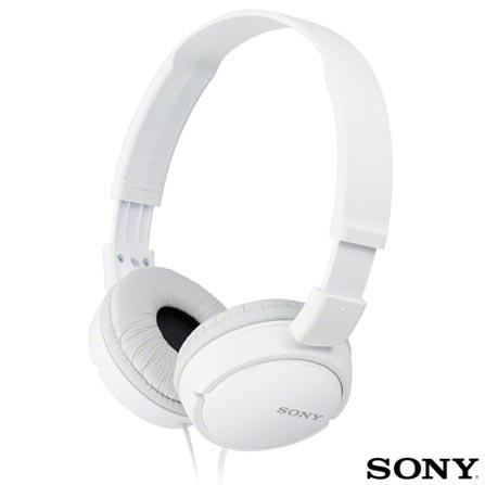 Fone de Ouvido Sony Headphone Dobrável Branco - MDR-ZX110/WCA, Branco, 03 meses, Sony
