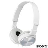 Fone de Ouvido Sony Headphone com Microfone Integrado  Branco - MDR-ZX310AP