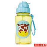 Garrafinha Zoo Girafa Skip Hop Amarelo e Azul com Canudo e Tampa Flip-Top - A-15-015