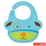 Babador de Silicone Zoo Cachorro Skip Hop Azul e Verde - A-26-002