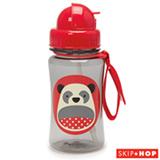 Garrafinha Zoo Panda Skip Hop Vermelha com Canudo e Tampa Flip-Top - A-15-018