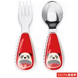 Jogo de Talheres com 02 Peças Zoo Panda Skip Hop Vermelho - A-18-018