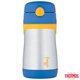 Garrafa Térmica Foogo Thermos 290 ml Azul e Amarelo com Tampa Higiênica - A-27-002