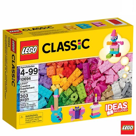 , Não se aplica, A partir de 04 anos, 303, 03 meses, Lego