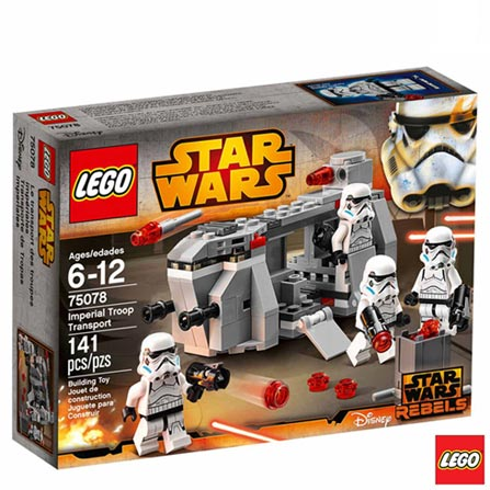 75078 - LEGO Star Wars - Transporte de Tropas Imperiais, Não se aplica, A partir de 06 anos, 141, 03 meses, Lego
