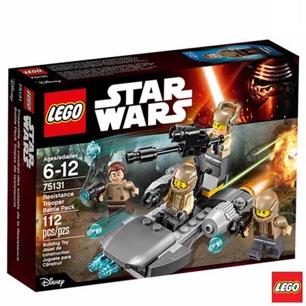 75131 - LEGO Star Wars - Pack de Combate da Resistencia, Não se aplica, A partir de 06 anos, 112, 03 meses, Lego