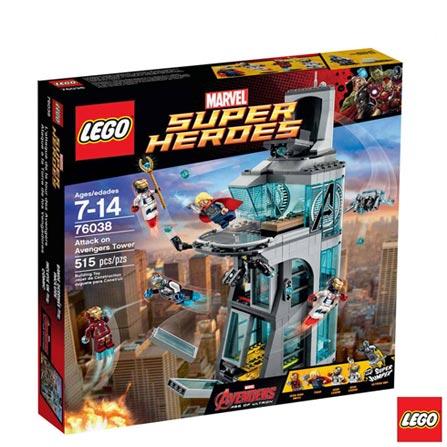76038 - LEGO Super Heroes - Ataque a Torre dos Vingadores, Não se aplica, A partir de 07 anos, 515, 03 meses, Lego