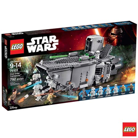 75103 - LEGO Star Wars - Transporter da Primeira Ordem, Não se aplica, A partir de 09 anos, 792, 03 meses, Lego