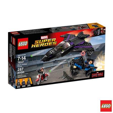 76047 - LEGO Super Heroes - Perseguicao do Pantera Negra, Não se aplica, A partir de 07 anos, 287, 03 meses, Lego