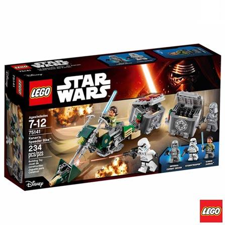 75141 - LEGO Star Wars - Speeder Bike do Kanan, Não se aplica, A partir de 07 anos, 234, 03 meses, Lego